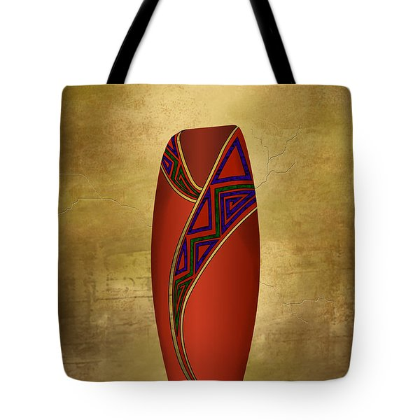 Vessel In Red Tote Bag