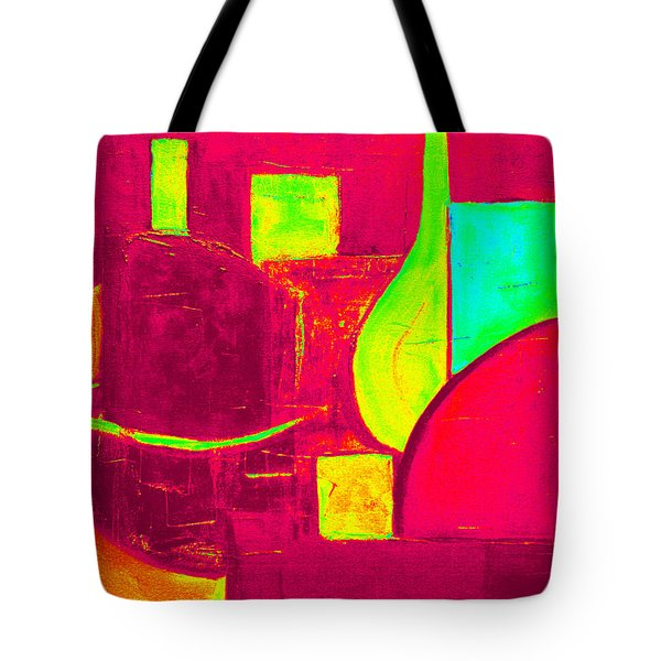 Tote Bag featuring the painting Vessels Very Colorful by VIVA Anderson