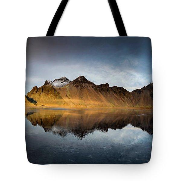 Tote Bag featuring the photograph Vestrahorn Panao by Allen Biedrzycki