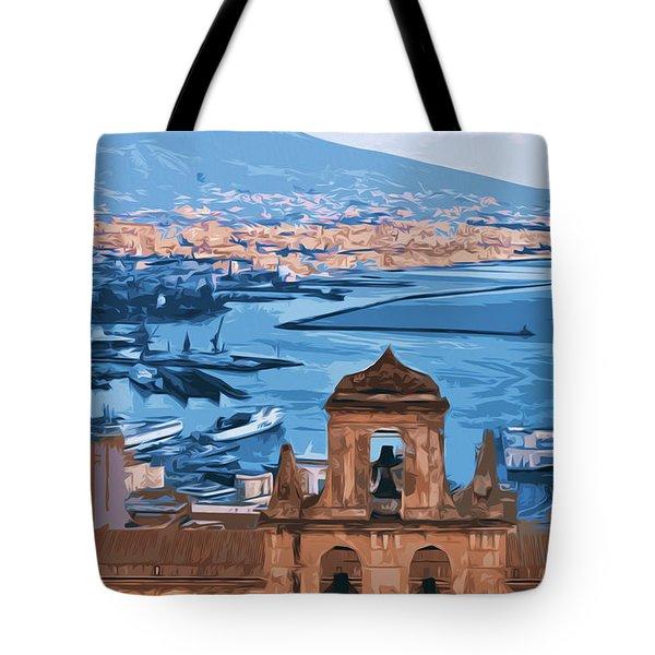 Vesuvio, Panorama From Naples Tote Bag
