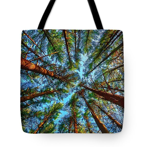 Tote Bag featuring the photograph  Veterans Acres Park Pine Grove by Tom Jelen