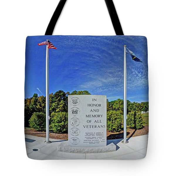 Veterans Freedom Park, Cary Nc. Tote Bag by George Randy Bass