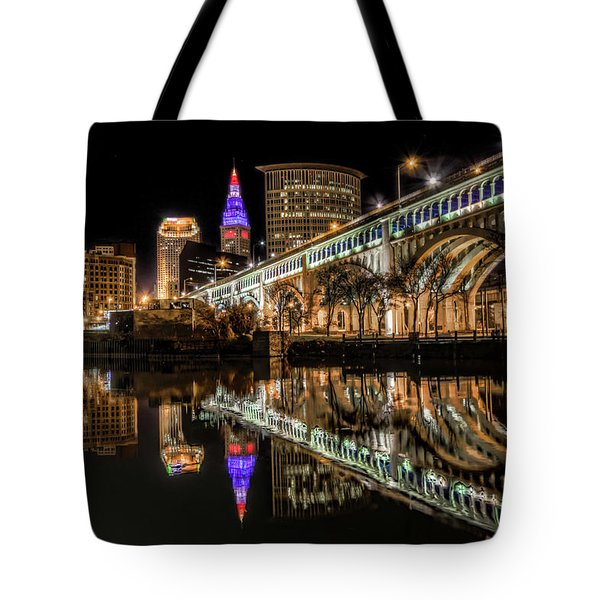 Veterans Memorial Bridge Tote Bag by Brent Durken