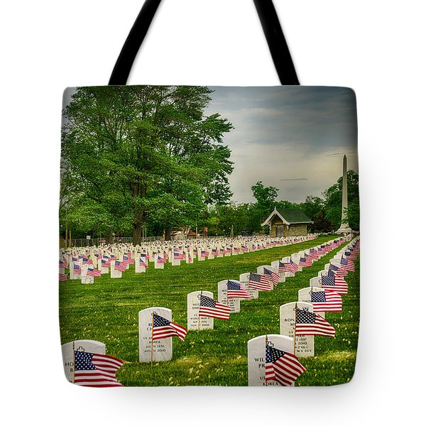 Tote Bag featuring the photograph Veterans Salute by Mary Timman