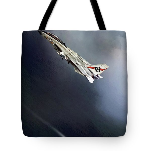 Vf-41 Black Aces Tote Bag by Peter Chilelli