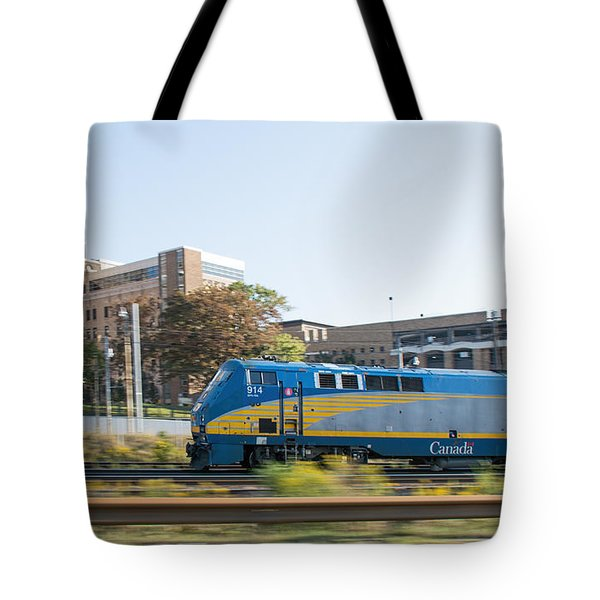 Via Rail Toronto Ontario Tote Bag