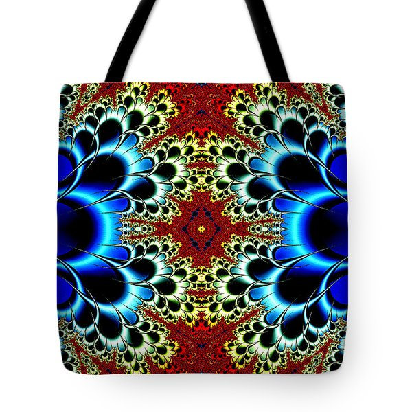 Vibrancy Fractal Cell Phone Case Tote Bag