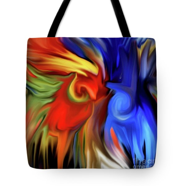 Vibrant Abstract Color Strokes Tote Bag