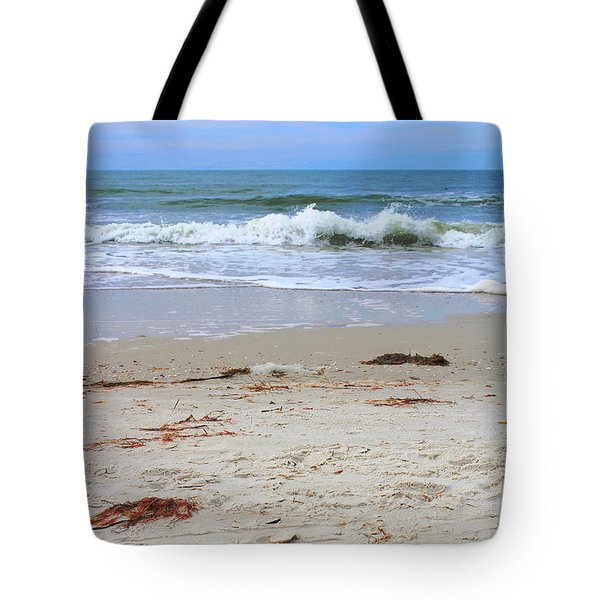 Vibrant Beach With Wave Tote Bag by Jeanne Forsythe