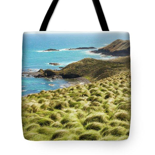 Vibrant Cape Seascape Tote Bag
