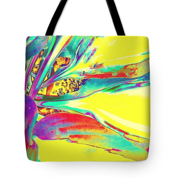 Vibrant Fascination  Tote Bag by Rachel Hannah