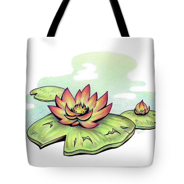 Vibrant Flower 2 Water Lily Tote Bag