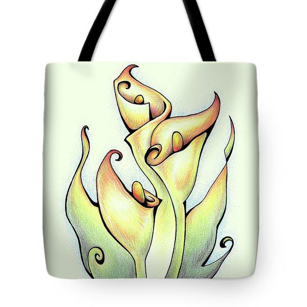 Vibrant Flower 3 Arum Lily Tote Bag