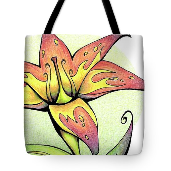 Vibrant Flower 4 Tiger Lily Tote Bag
