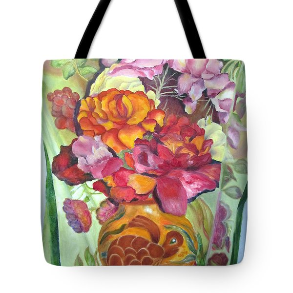 Vibrant Flowers Tote Bag