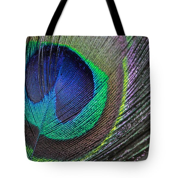 Vibrant Green Feather Tote Bag