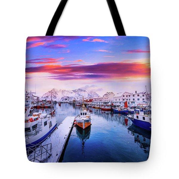 Vibrant Norway Tote Bag