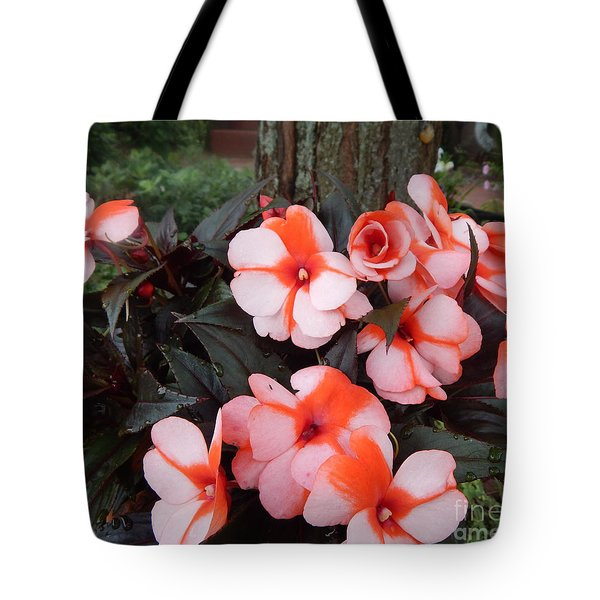Plumerias Vibrant Pink Flowers Tote Bag