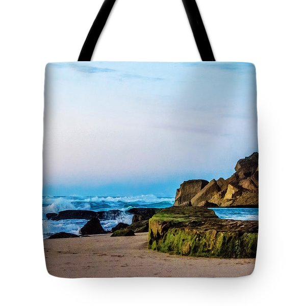 Vibrant Seascape At Twilight Tote Bag