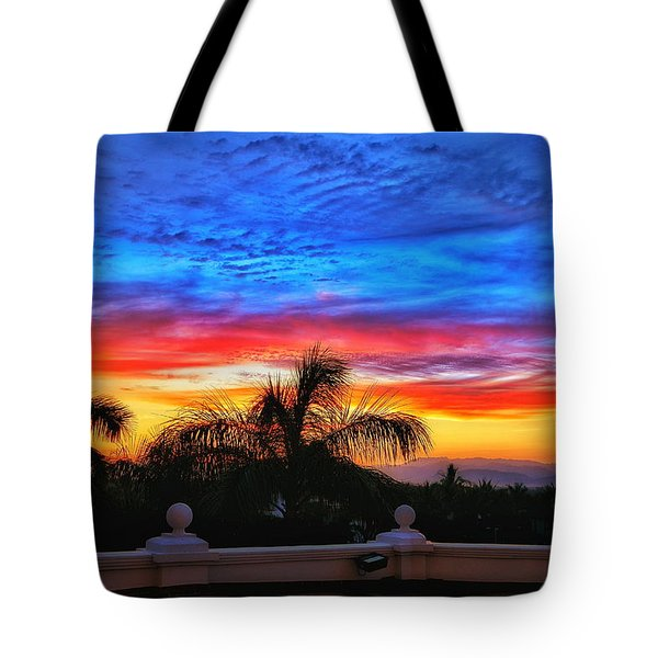 Tote Bag featuring the photograph Vibrant Sunset In Mexico by Nikki McInnes
