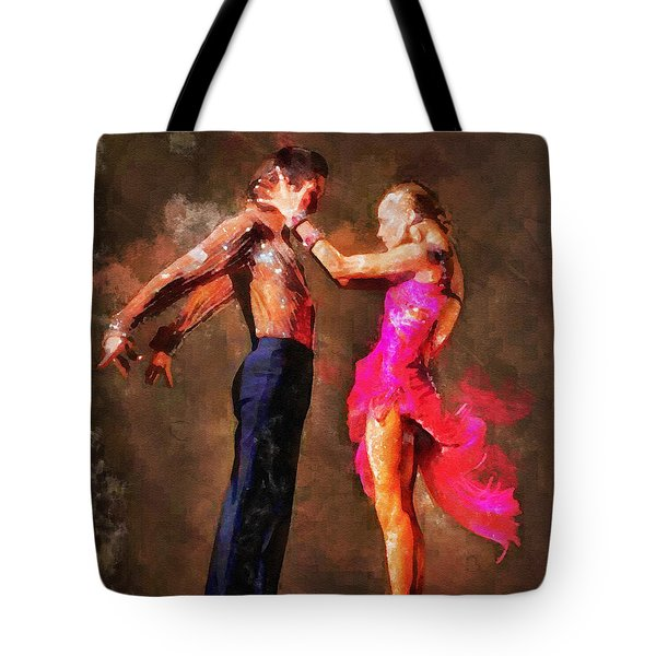 Vibrant Tango Tote Bag by Shirley Stalter