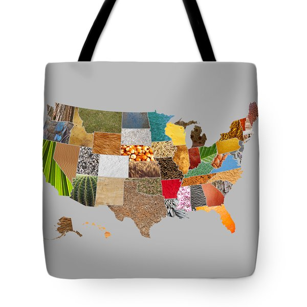 Vibrant Textures Of The United States Tote Bag