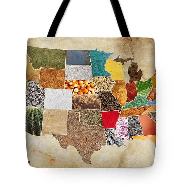 Vibrant Textures Of The United States On Worn Parchment Tote Bag