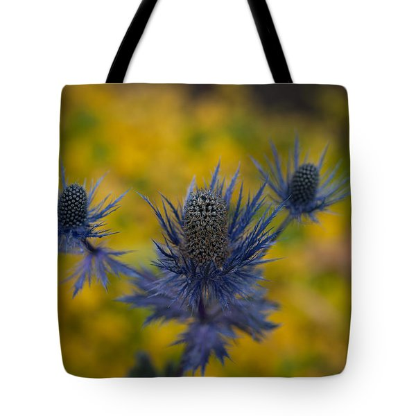 Vibrant Thistles Tote Bag by Mike Reid