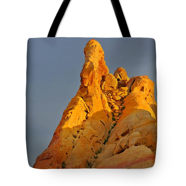 Vibrant Valley Of Fire Tote Bag by Christine Till