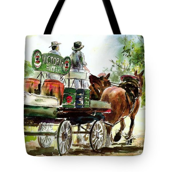 Victoria Bitter, Working Clydesdales. Tote Bag