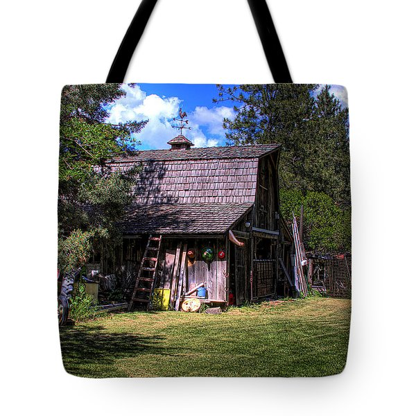 Vic Moore's Barn Tote Bag by David Patterson