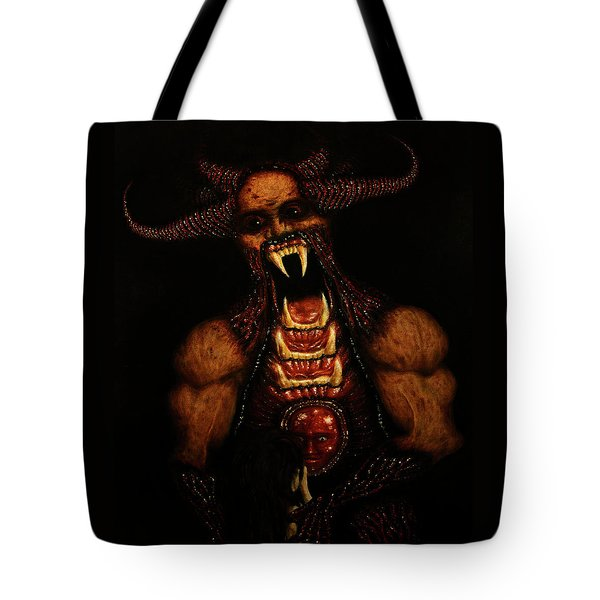 Tote Bag featuring the drawing Vicious - Artwork by Ryan Nieves