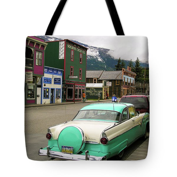 Tote Bag featuring the photograph Vicky In Skagway by Jim Mathis