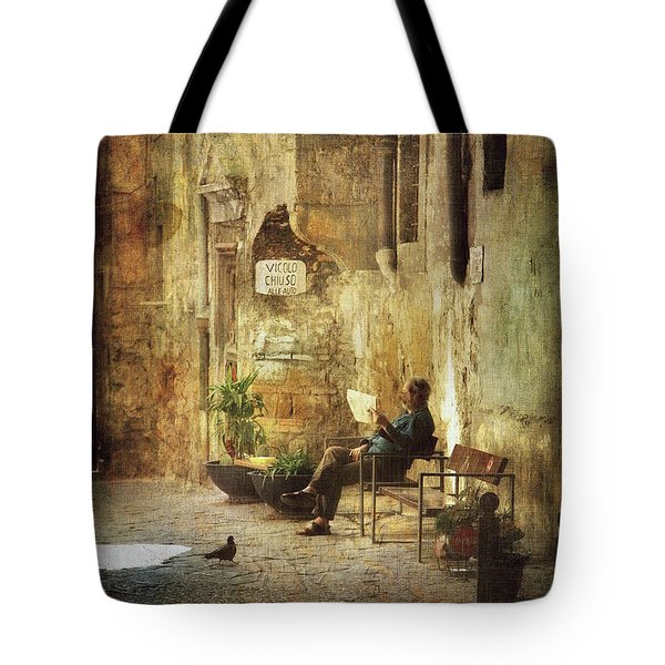 Vicolo Chiuso   Closed Alley Tote Bag