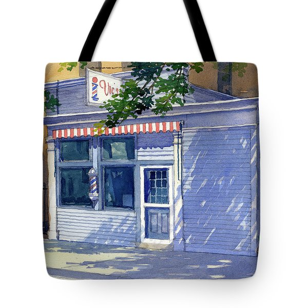 Vic's Barbershop Tote Bag