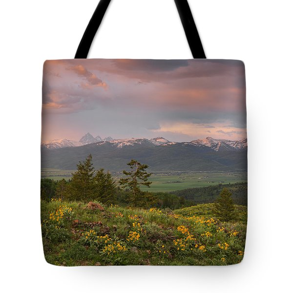 Victor Idaho Sunset Tote Bag