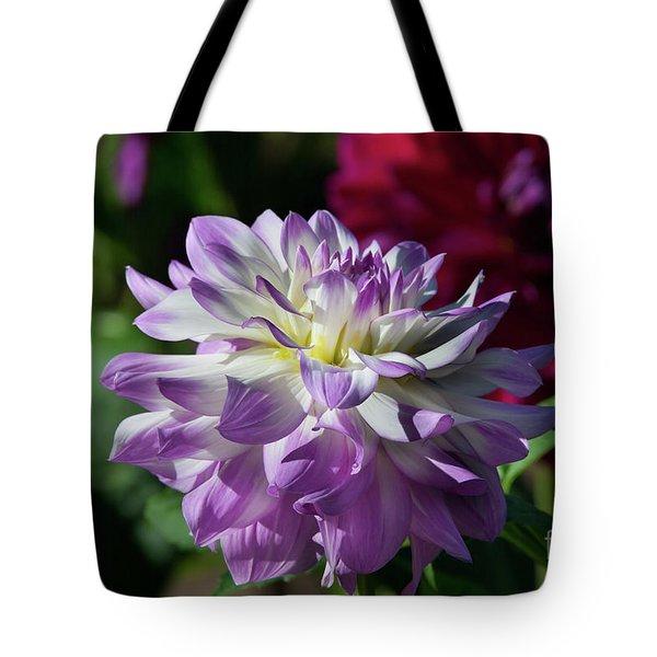Victoria Ann Dahlia Tote Bag