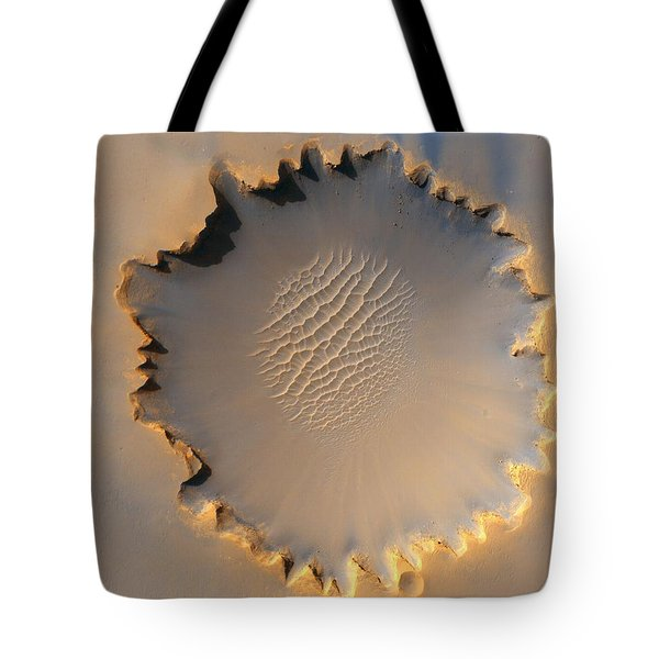Victoria Crater Of Mars  Tote Bag by Jet Propulsion Laboratory