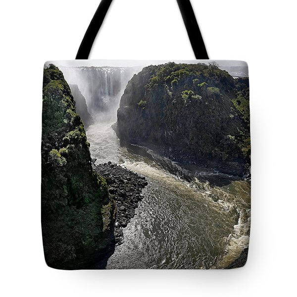 Victoria Falls Tote Bag by Joe Bonita