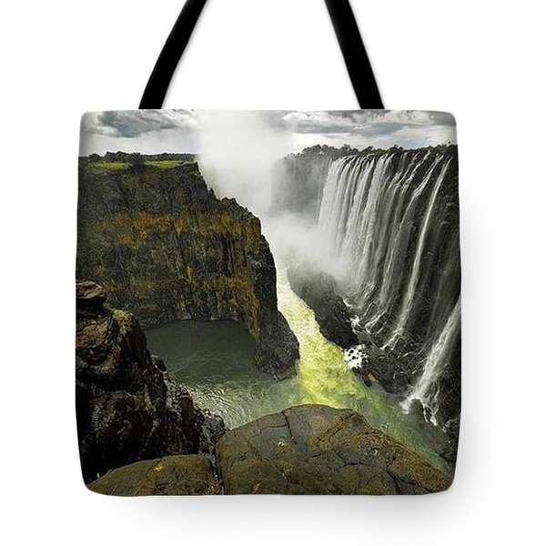 Victoria Falls Zambia And Zimbabwe  Tote Bag