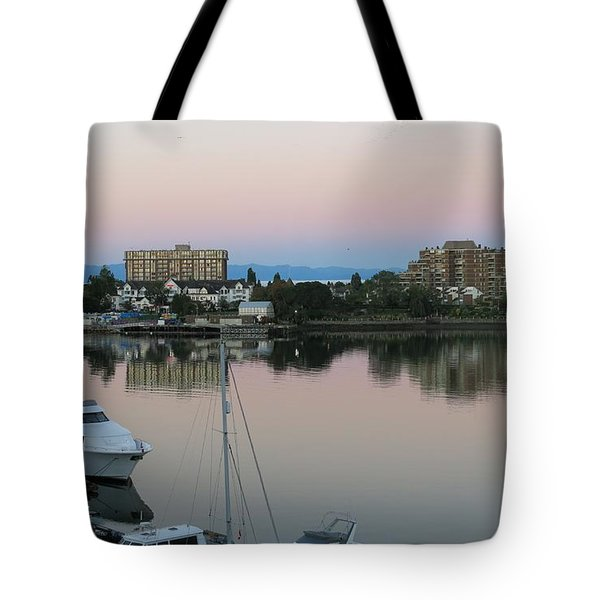 Victoria Harbor Dawn Tote Bag