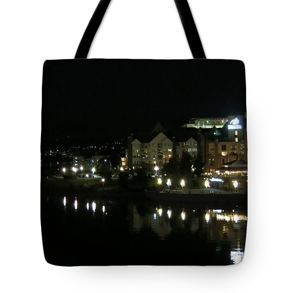 Victoria Harbor Night View Tote Bag