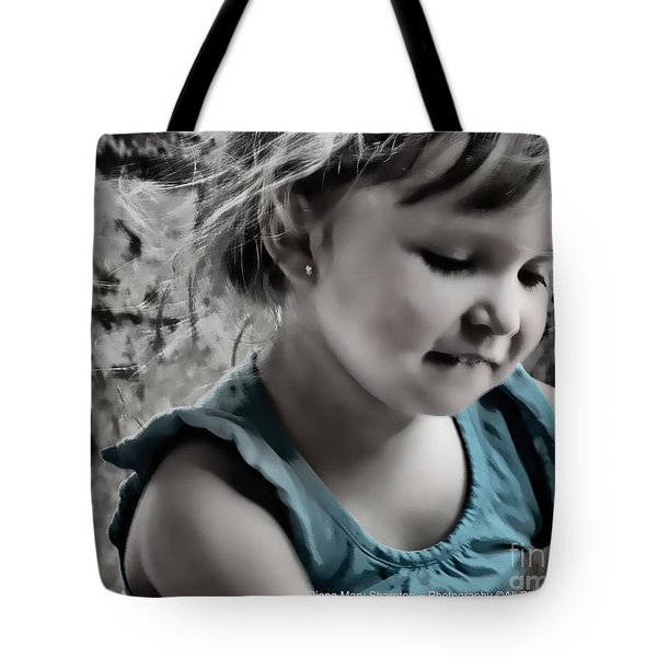 Victoria In Blue Tote Bag