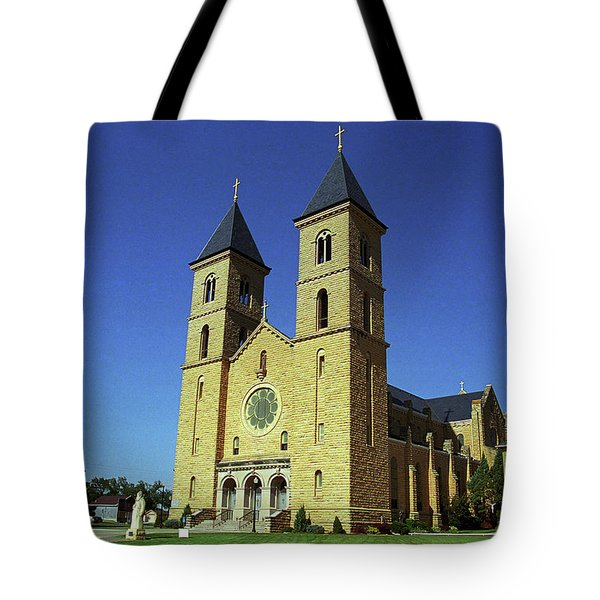 Tote Bag featuring the photograph Victoria, Kansas - Cathedral Of The Plains 6 by Frank Romeo