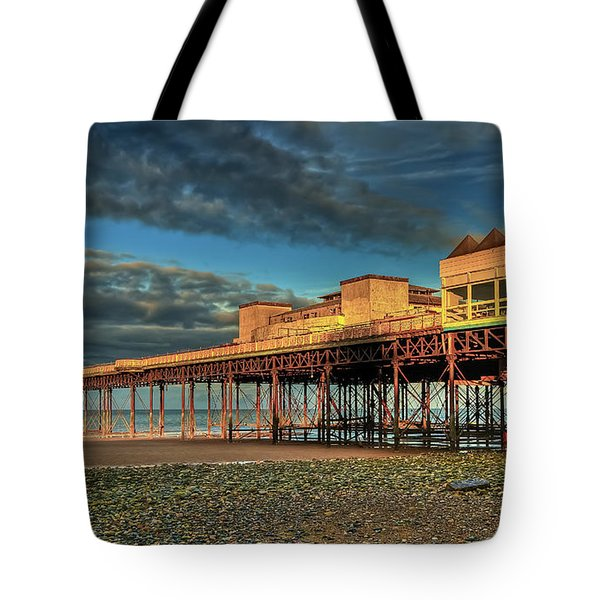 Tote Bag featuring the photograph Victoria Pier 1899 by Adrian Evans