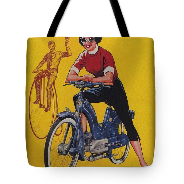 Victoria Vicky Iv - Motorcycle - Vintage Advertising Poster Tote Bag