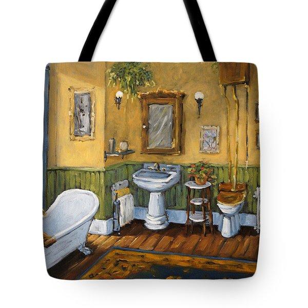 Victorian Bathroom By Prankearts Tote Bag by Richard T Pranke