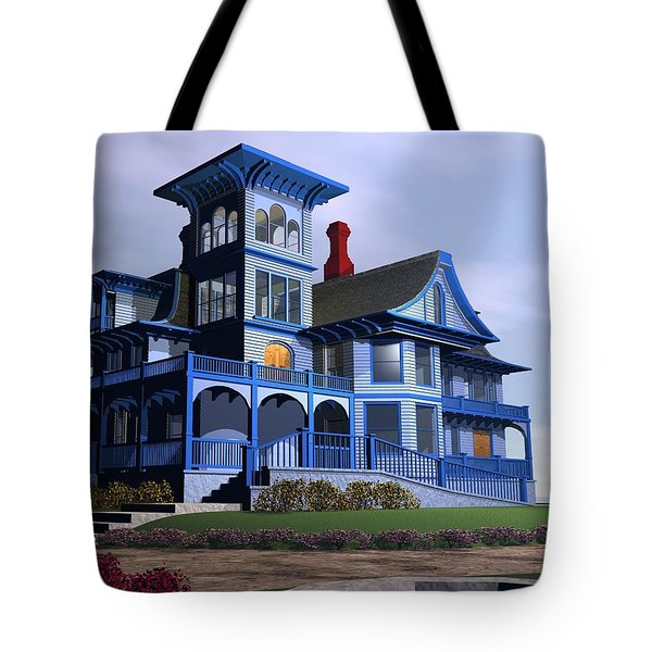 Victorian Cape May Tote Bag by John Pangia