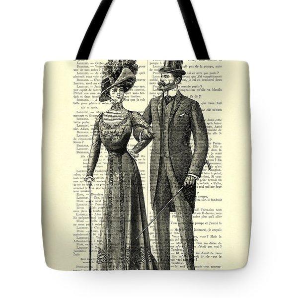 Victorian Couple Tote Bag