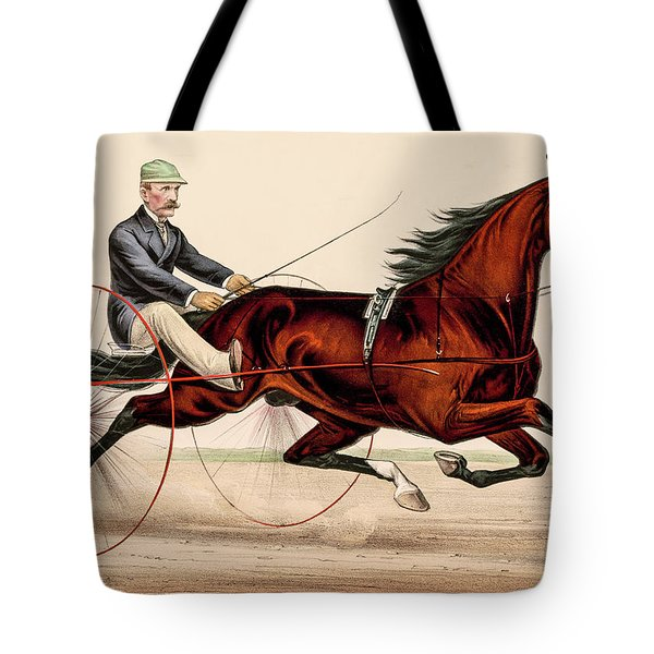 Tote Bag featuring the photograph Victorian Horse Carriage Race by David Letts